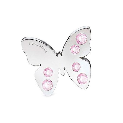 Кулон Nomination Butterfly в виде бабочки украшенный кристаллами Svarovskі, фото