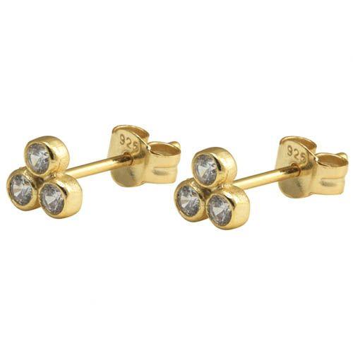 Сережки Aran Jewels с тремя цирконами, фото