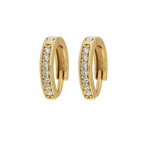 Серьги Aran Jewels с позолотой в виде колец с цирконами, фото