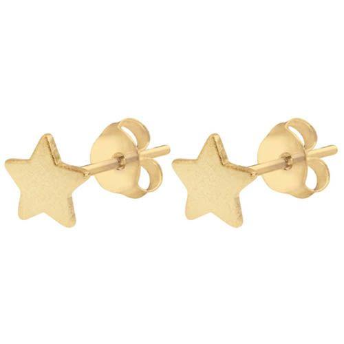 Серьги Aran Jewels с позолотой в звездочек, фото