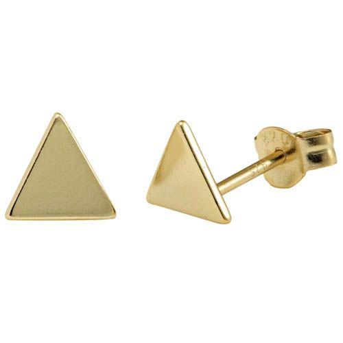 Серьги Aran Jewels с позолотой в виде треугольников, фото