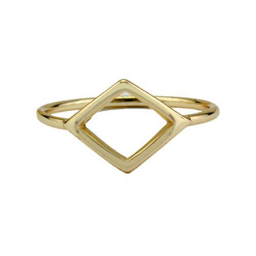 Кольцо Aran Jewels с позолотой в виде ромба, фото