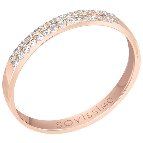 Кольцо из красного золота с бриллиантами Sovissimo 119051920101, фото