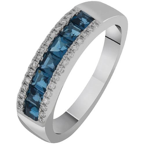Кольцо из белого золота с топазами и бриллиантами Sovissimo 119092120201, фото