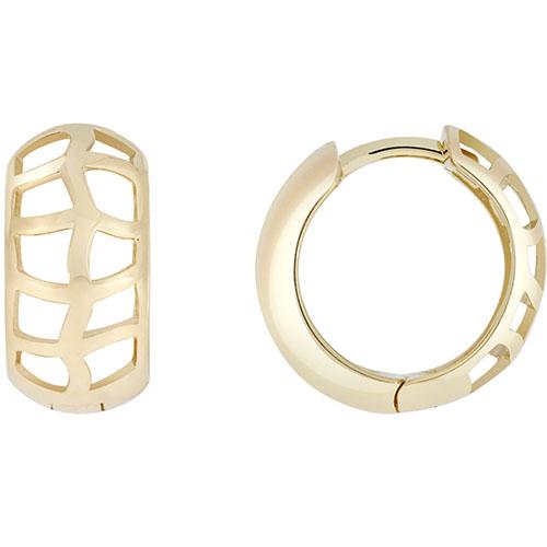 Золотые серьги SOVA в форме широких колец, фото