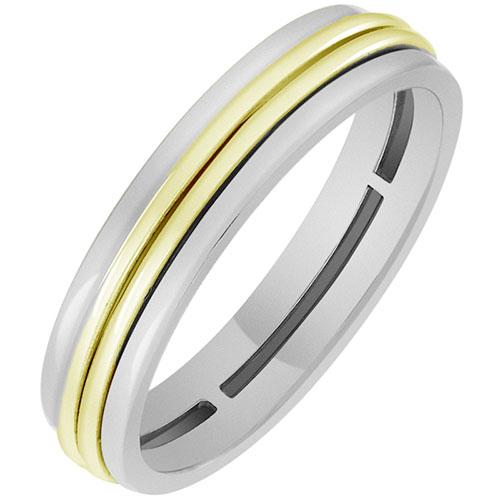 Кольцо из желтого и белого золота Sova 100270613201, фото
