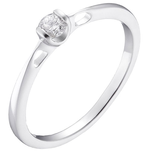 Кольцо из белого золота Sova с бриллиантом 110315120201, фото