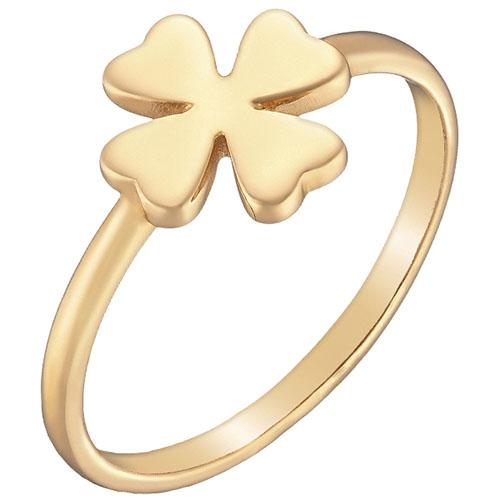 Кольцо из желтого золота Sovissimo Четырехлистный клевер 100286110301, фото