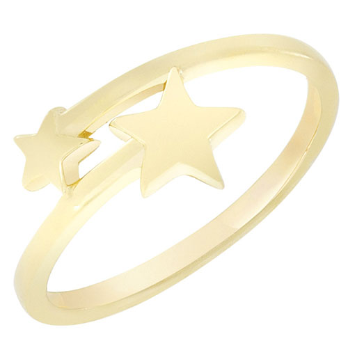 Кольцо из желтого золота Sovissimo со звездочками 100285310301, фото
