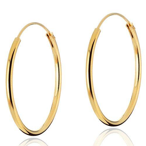 Серьги-кольца Aran Jewels серебряные в позолоте, фото