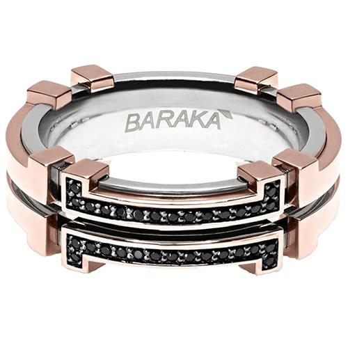 Мужское кольцо Baraka Explore из золота и стали, фото