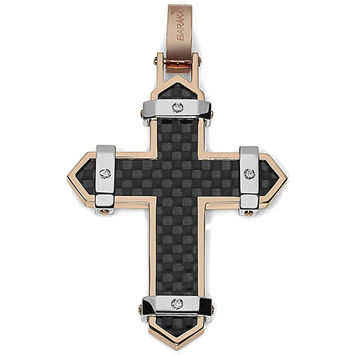 Мужской крест Baraka Fiber с черной карбоновой вставкой, фото