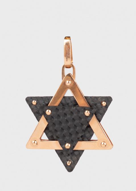 Золотая подвеска Baraka в виде звезды Давида из карбона, фото