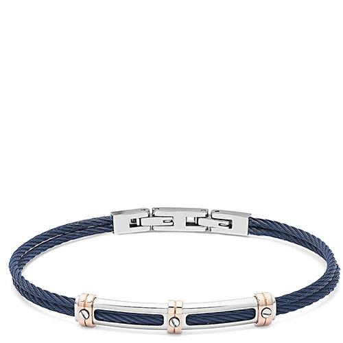 Мужской браслет Comete Wire в виде каната синего цвета, фото