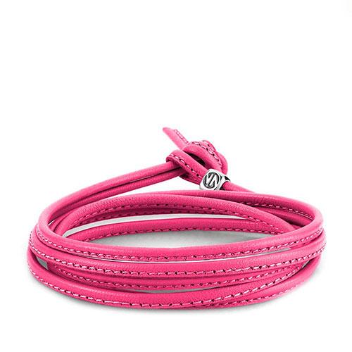 Браслет Nomination Mybonbons шнурок из кожи розового цвета, фото