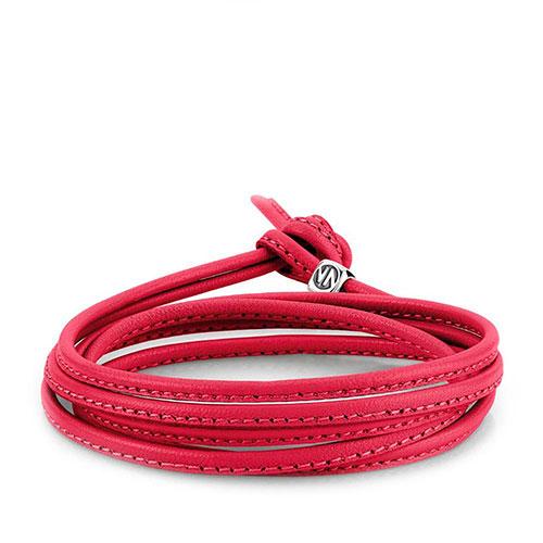 Браслет-шнурок Nomination Mybonbons из кожи красного цвета, фото