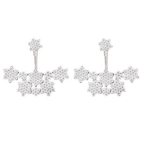Серьги Alibi серебряные украшенные звездочками с цирконами, фото