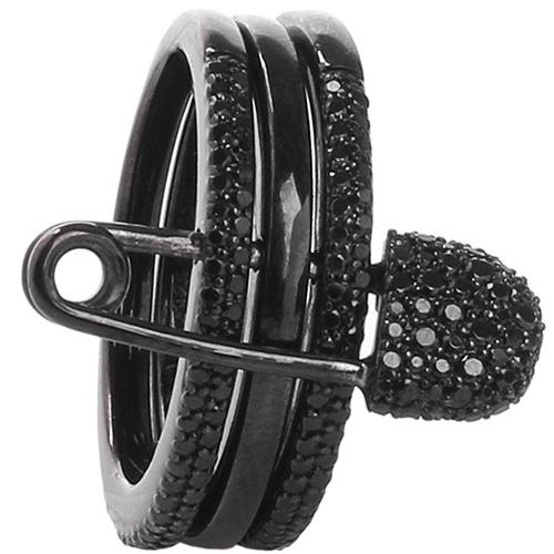 Кольцо черного цвета APM Monaco в виде шпильки, фото