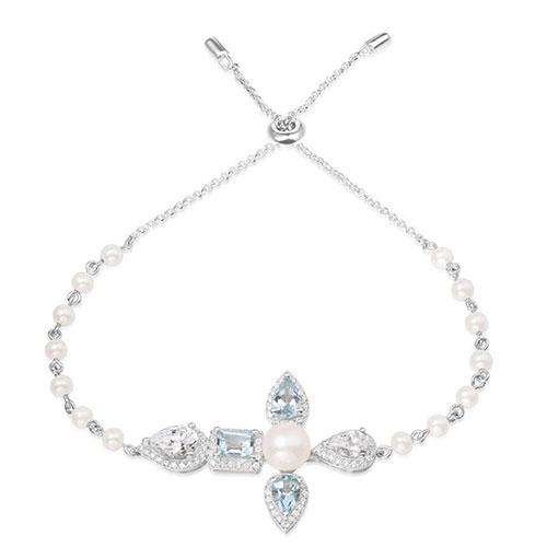 Жемчужный браслет APM Monaco Glamour с камнями циркония, фото