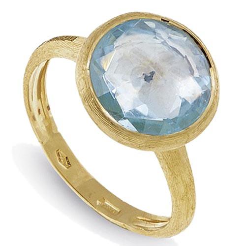 Женское тонкое кольцо Marco Bicego Jaipur с крупным белым топазом, фото