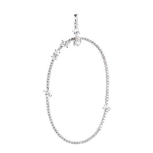 Серебряная моно-серьга с подвеской в форме кольца APM Monaco с цирконами, фото