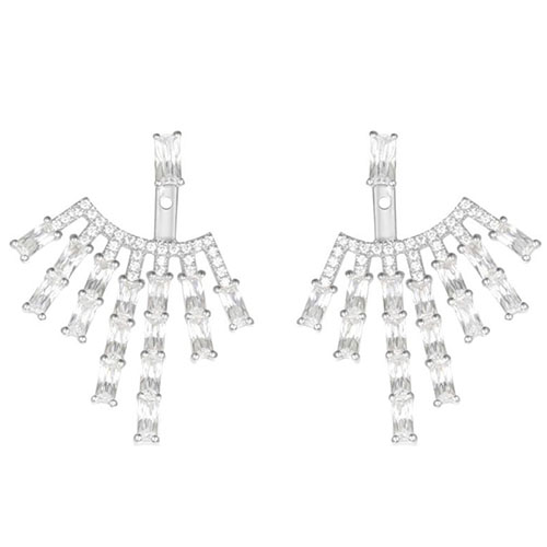 Серебряные серьги с цирконами APM Monaco, фото