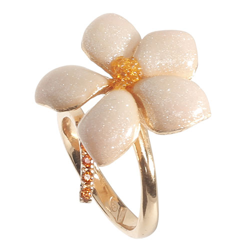 Кольцо Misis серебряное с декором-цветком, фото