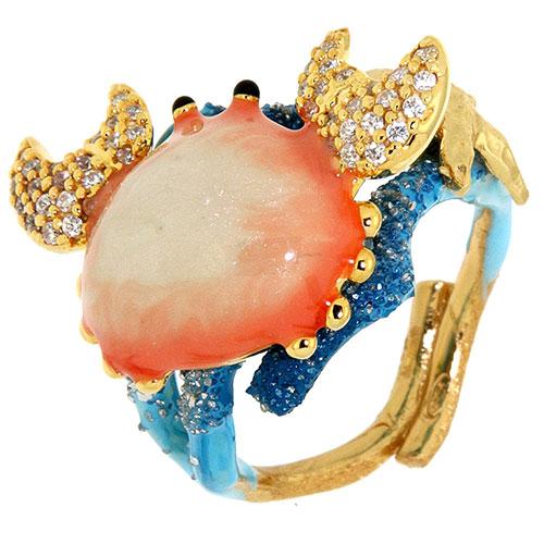Перстень Misis Positano в виде краба, фото