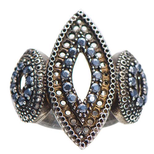 Серебряное кольцо Misis Bisanzio с топазом и фианитами, фото