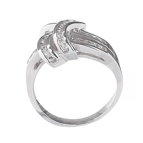 Кольцо из белого золота D.B Узелок с бриллиантами, фото