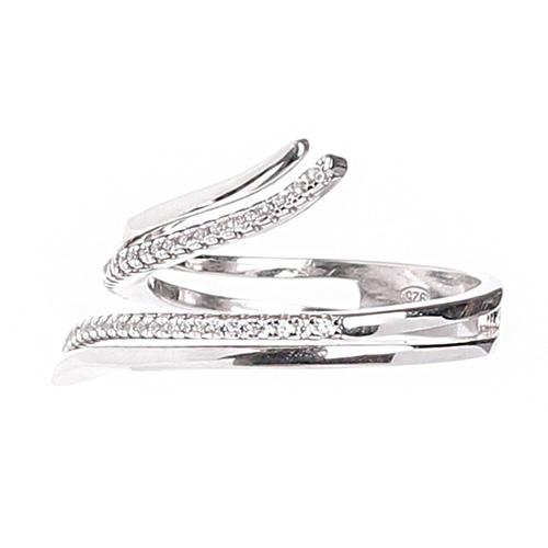 Серебряное кольцо Marcello Pane с цирконами, фото