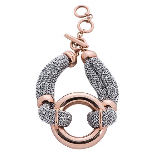 Браслет из серебряной ткани Adami & Martucci с кольцом, фото