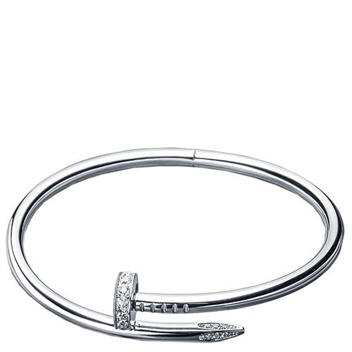 Браслет Cava.cool в виде согнутого гвоздя из серебра, фото