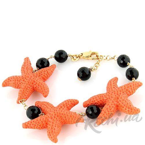 Браслет Misis с морскими звездочками и ониксами, фото