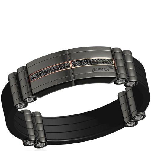 Черный браслет Baraka Black-one с черными бриллиантами, фото