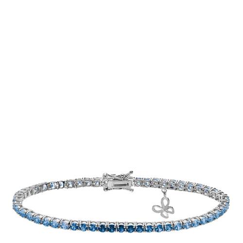 Браслет Comete Farfalle с кристаллами белого и голубого цвета, фото