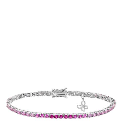 Браслет Comete Farfalle с кристаллами белого и розового цвета, фото