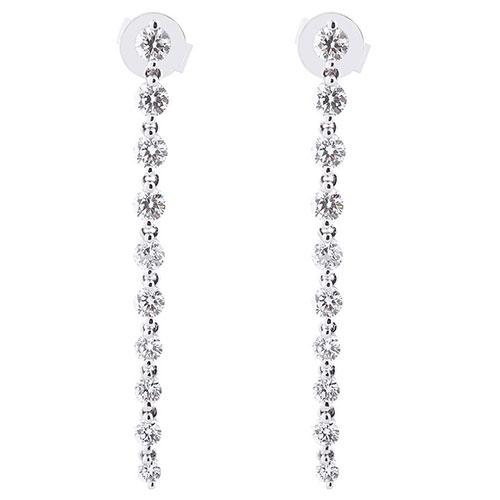 Длинные серьги Оникс из золота с бриллиантами, фото