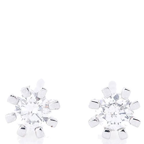 Серьги с бриллиантами Оникс в форме снежинок, фото