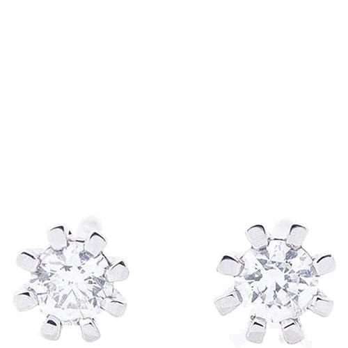 Золотые серьги-пусеты Оникс с бриллиантами, фото