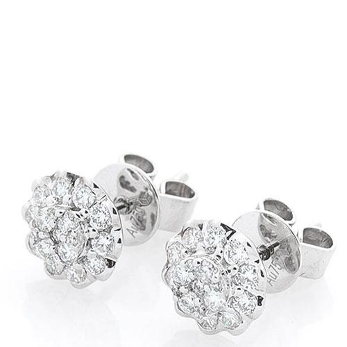 Серьги-пусеты Оникс из золота с бриллиантами, фото