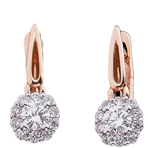 Серьги с бриллиантами Оникс из золота, фото