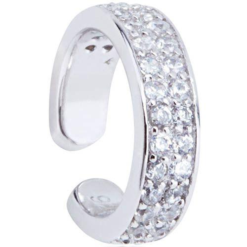 Серьга-кафф Armadoro Jewelry серебряная с цирконами, фото
