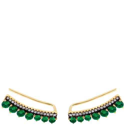 Серьги Armadoro Jewelry с зелеными искусственными изумрудами, фото