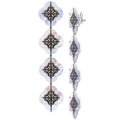 Серьги-конструктор Cava.cool Luxury Kit из серебра на 4 ячейки, фото