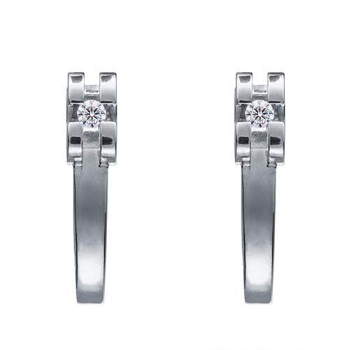 Изящные серьги Cava.cool с двумя бриллиантами 006 карат, фото