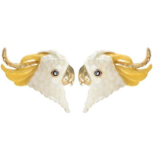 Серьги Good After Nine в виде белых попугаев Какаду, фото