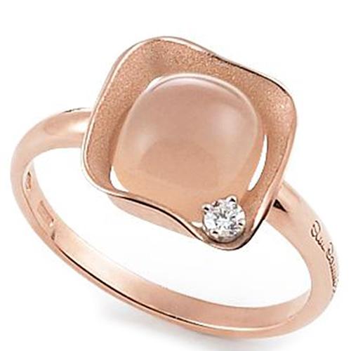 Тонкое кольцо Annamaria Cammilli Dune Cubic с кварцем, фото