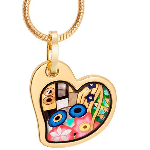 Подвеска Freywille Heart Безупречный поцелуй Густав Климт, фото