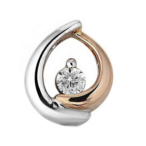 Кулон из золота с бриллиантом, фото
